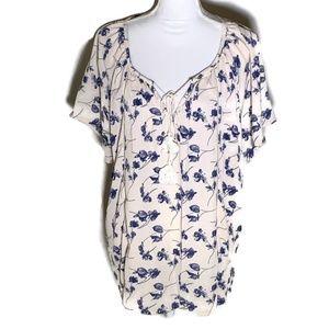 Siren Lily short sleeve top print plus size 2X
